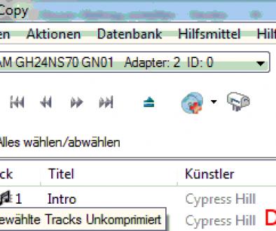 Kopiere Tracks unko
